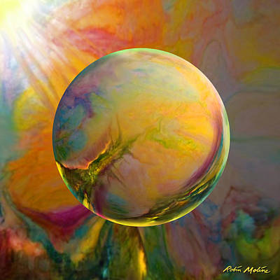 Sphere Painting - Easter Orb by Robin Moline