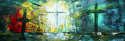 Holy Ghost Painting - Easter Sunday by AJ Warren