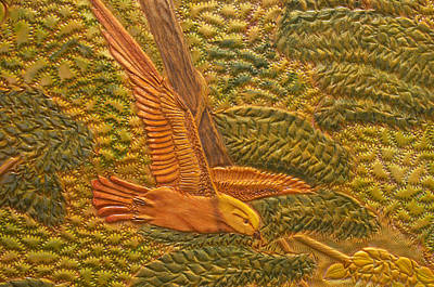 Meadowlark Mixed Media - Eastern Meadowlark by James McGarry Leather Artist