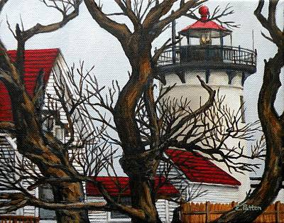 New England Lighthouse Painting - Eastern Point Light Gloucester by Eileen Patten Oliver