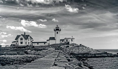 Rocks Photograph - Eastern Point Lighthouse Compound by John M Bailey