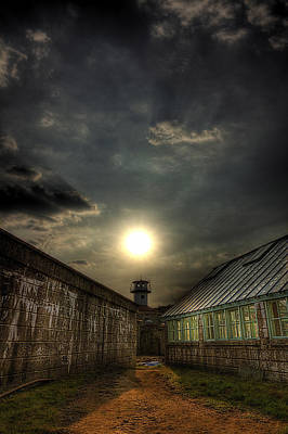 Phillies Art Photograph - Eastern State Penitentiary Sunset by Kim Zier
