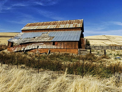 Photograph - Eastern Washington Barn by Ron Roberts