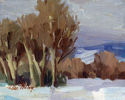 Winter Scenes Painting - Eastern Washington Winter by Diane McClary
