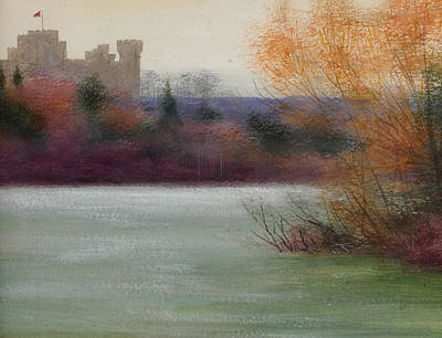 Wood Castle Painting - Eastnor Castle by Edward Clifford