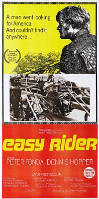1960s Poster Art Photograph - Easy Rider, Australian Poster, Peter by Everett