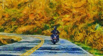 Motorcycle Mixed Media - Easy Rider by Dan Sproul
