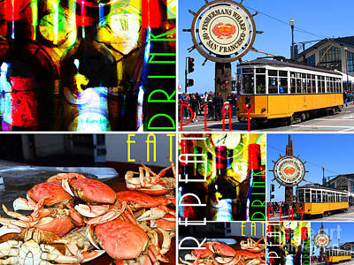 Eat Drink Play Repeat San Francisco 20140713 Horizontal Print by Wingsdomain Art and Photography