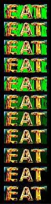 Eat Up Print by Jame Hayes