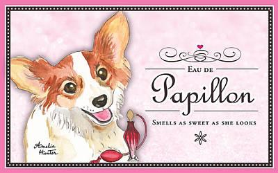 Dog Painting - Eau De Papillon by Amelia Hunter