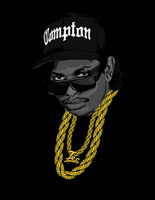 Rap Digital Art - Eazy by Lawrence Carmichael