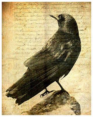 Blackbird Mixed Media - Ecce Cor Meum by Linda Plaisted