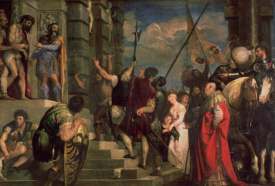 Ecce Homo, 1543 Oil On Canvas Print by Titian