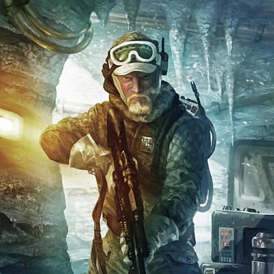 Echo Base Trooper Print by Ryan Barger