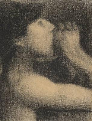 Bare Shoulder Pastel - Echo by Georges Pierre Seurat