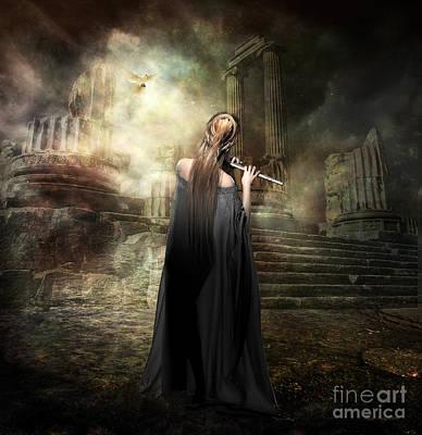 Goddess Mythology Digital Art - Echoes Of Euterpe by Shanina Conway