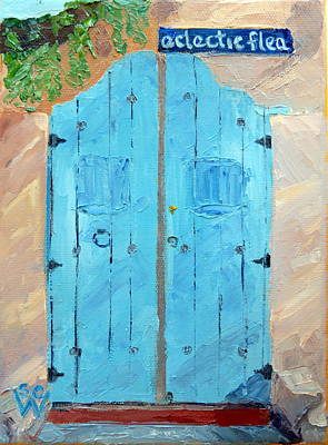 Southwest Gate Painting - Eclectic Flea by Susan Woodward