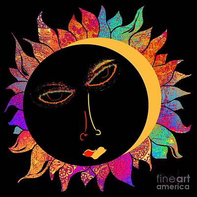 Eclipse Of The Sun Print by Barbara Drake