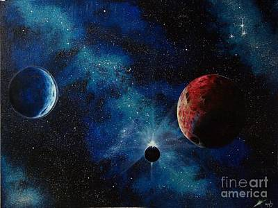 Spacescape Painting - Ecliptic View by Murphy Elliott
