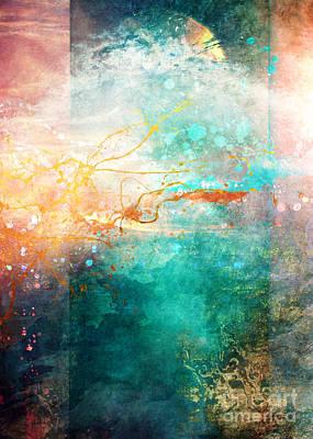 Gradient Digital Art - Ecstatic by Aimee Stewart