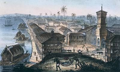 Ecuador. Guayaquil. The City Print by Everett