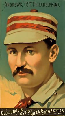 Ed Andrews Baseball Card Print by David Letts