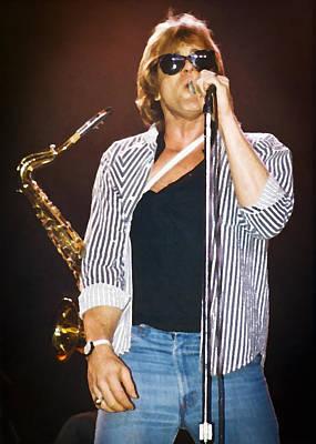 Rock Music Art Photograph - Eddie Money Singing by Patrick M Lynch