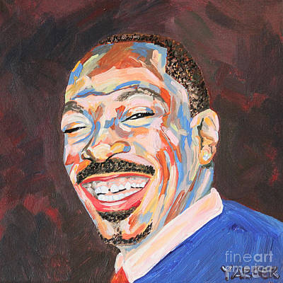 Eddie Murphy Portrait Print by Robert Yaeger