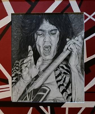 Van Halen Drawing - Eddie by S G Williams