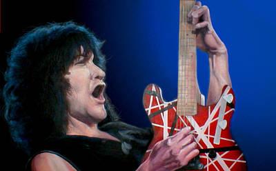 Van Halen Painting - Eddie by Stephen Thompson