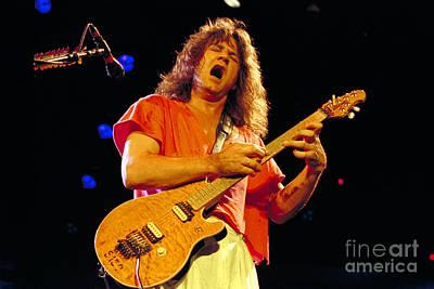 Concert Photograph - Eddie Van Halen-15 by Timothy Bischoff