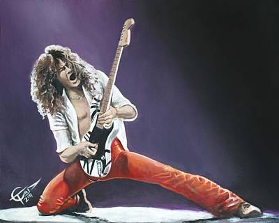 Eddie Van Halen Print by Tom Carlton