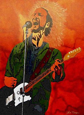 Pearl Jam Mixed Media - Eddie Vedder-eddie Live by Bill Manson