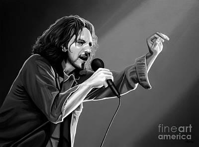 Pearl Jam Mixed Media - Eddie Vedder  by Meijering Manupix