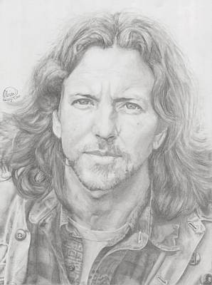 Pearl Jam Drawing - Eddie Vedder by Olivia Schiermeyer