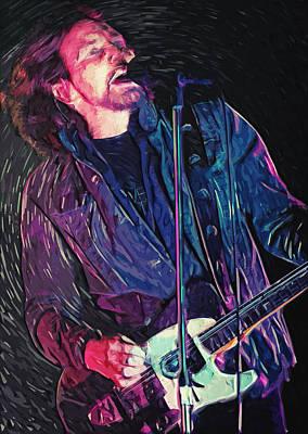 Pearl Jam Digital Art - Eddie Vedder by Taylan Soyturk