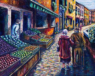 Fruit Stand Painting - Eden Exodus And Eternity  by Kevin Richard