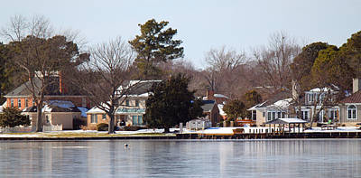 Edenton Waterfront Print by Carolyn Ricks