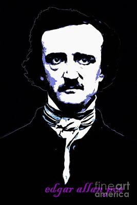 Haunted Digital Art - Edgar Allan Poe 20140914poster V2 by Wingsdomain Art and Photography