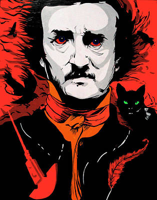 Edgar Allan Poe Print by Kyle Willis