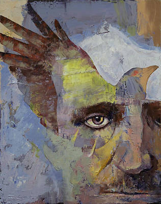 Surrealistic Painting - Poe by Michael Creese