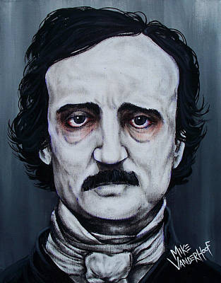 Edgar Allan Poe Print by Michael Vanderhoof