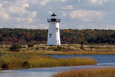 Edgartown Lighthouse Print by Juergen Roth