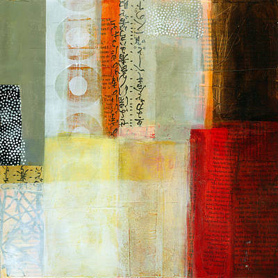 Abstract Collage Painting - Edge Location 7 by Jane Davies