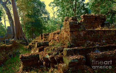 Angkor Photograph - Edge Of Ruin by Julian Cook