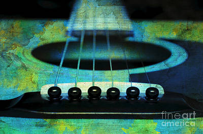 Guitar Photograph - Edgy Abstract Eclectic Guitar 29 by Andee Design