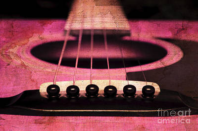 Edgy Abstract Eclectic Guitar 6 Print by Andee Design