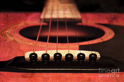 Edgy Abstract Eclectic Guitar 7 Print by Andee Design