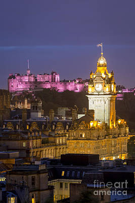 Edinburgh - Twilight Print by Brian Jannsen