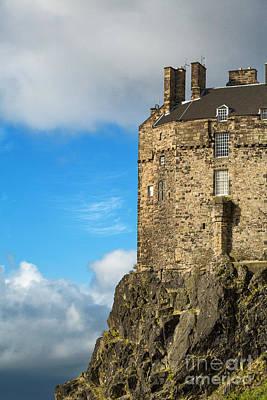 Edinburgh Castle Detail Print by Jane Rix